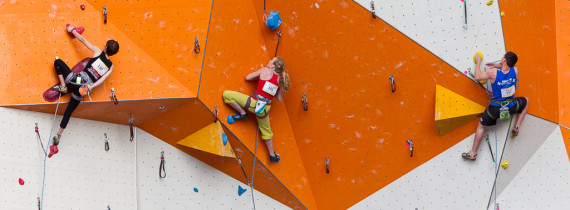 The walls at the Boulders were crowded last weekend with competitors in the 2013 National Climbing Championships (Photo: Christian J. Stewart / Island Sports News)